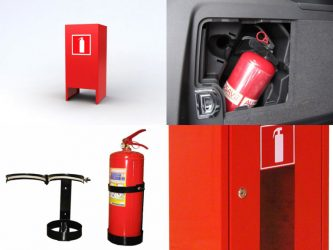 Как должен располагаться огнетушитель в помещении?