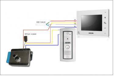 Провода для домофона с электрозамком