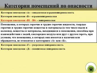 Категория помещения В1 требования к электрооборудованию