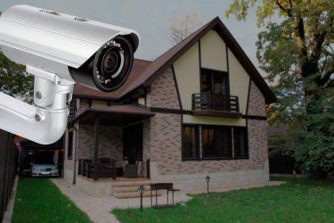 Установка видеонаблюдения в коттедж
