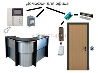 Установка домофона в офис