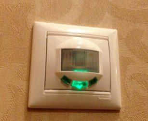 Датчик движения вместо выключателя света