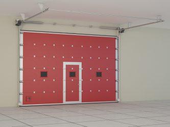 Противопожарные подъемно секционные ворота