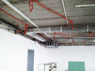 Прокладка пожарной сигнализации и силовых кабелей