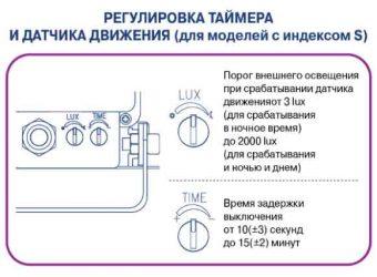 Как настроить датчик движения на прожекторе?