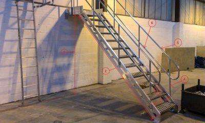 Требования к ступеням металлических лестниц