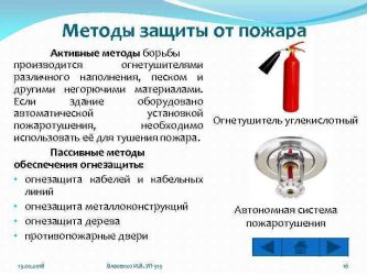 Пассивные методы защиты от пожара