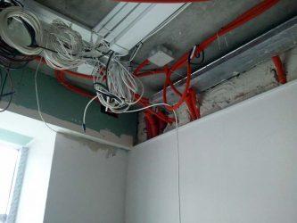 Прокладка кабелей пожарной сигнализации совместно с другими