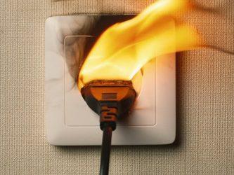 Защита розеток от возгорания