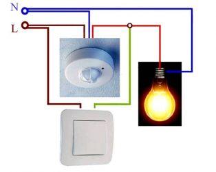 Как установить датчик движения для включения света?