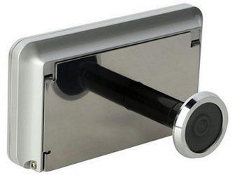 Камера видеонаблюдения в глазок двери с записью