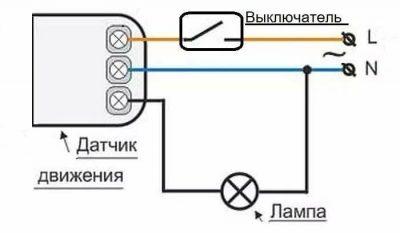 Как установить выключатель с датчиком движения?