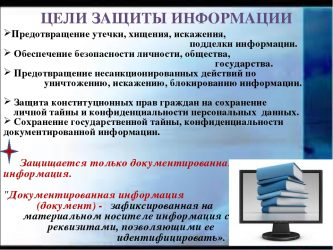Что является целями защиты информации?